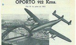 1951. Las palomas españolas viajan en avión