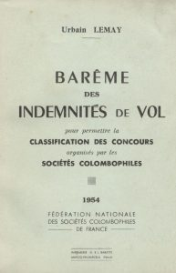 Barêmes des indemnitiês de vol. (1954)