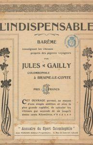 Annuaire du sport colombophile. L´indispensable. Barème. (1905)