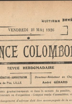 La France colombophile. (1926)