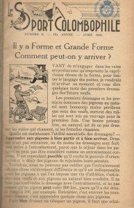 Le sport colombophile. (1938)